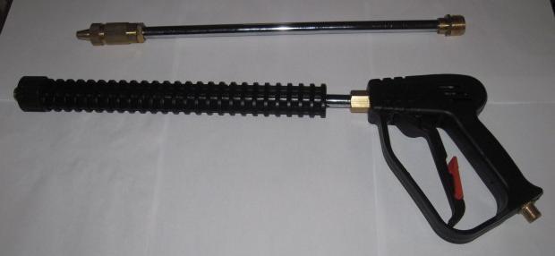 Пластиковый пистолет с железным наконечником (для мойки)