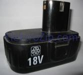 Трехконтактный, плоский аккумулятор 18V для шуруповерта Einhell