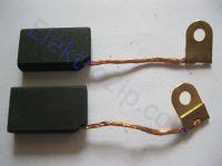 Угольные щетки для пилы, электронасоса Кама; 5х12х20, поводок, уголок, ухо (материал А)