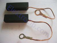 Угольные щетки для пилы, электронасоса Кама; 8х10х32, поводок, ухо (материал А)