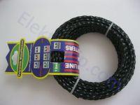 Леска d3.0, черная / желтая, крученая (для триммера)