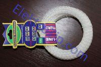 Леска d2.4, белая / бордовая, крученая (для триммера)