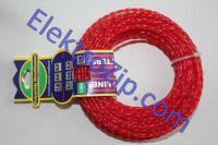 Леска d3.3, бордовая / белая, крученая (для триммера)