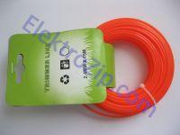 Леска d2.4, 15м, оранжевая (для триммера)