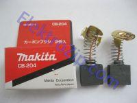 Угольные щетки для болгарки Makita (Макита) 204; 7х18, пружина, ус, автостоп