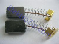 Угольные щетки для дрели, болгарки; 5х10х15, пружина, короткий ус (материал А)