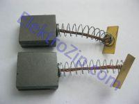 Угольные щетки для болгарки, пилы; 6х15х16, пружина, 2 прорези, планка (материал А)