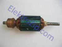 Якорь для эксцентриковой шлифмашины DWT (ДВТ) EX125VS, 450w; Lобщ.152, Lпос.116, Dжел.41, Lжел.44