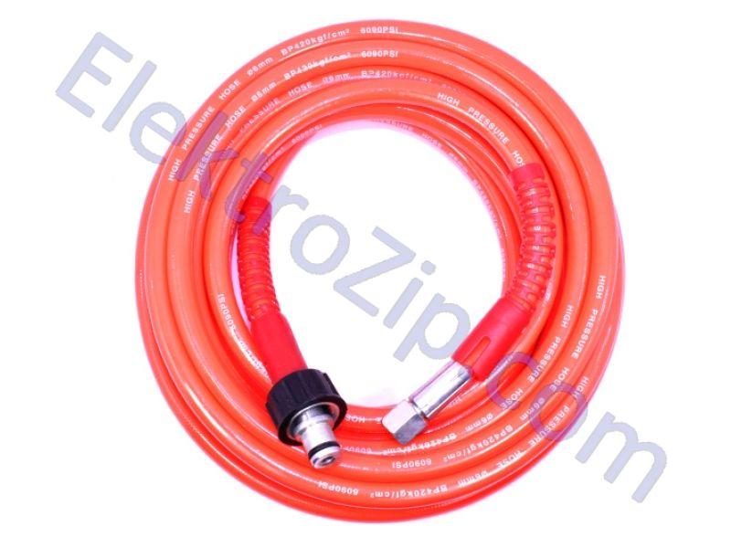 Красный шланг 8м, d15 (для мойки)