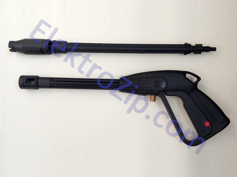 Пластиковый пистолет на защелке, распыление веером (для мойки)
