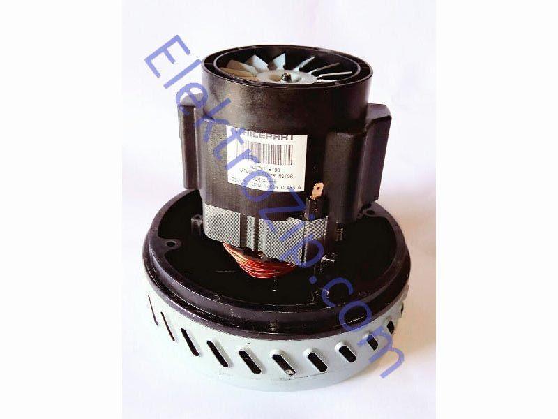 Двигатель моющий универсальный VCM 140 H-E. Мощность 1400W. Мотор h140, турбина D145, h49, диаметр верхний 78.