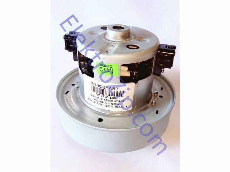 Двигатель универсальный VCM-HD 119,5-1800W. Мощность 1800W. Мотор h119,5, турбина D135, h35, расстояние крепления под отверстия (по центрам) 55